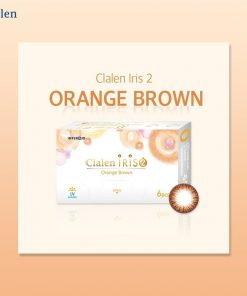 A Clalen iris 2 orange brown Colored contact lens photo