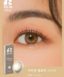 Eyes wear rich ann mellow brown color contact lens
