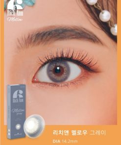 Eyes wear rich ann mellow gray color contact lens
